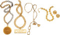 Luxury Accessories:Accessories, Chanel Set of Five: Necklaces and Earrings C...