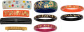 Luxury Accessories:Accessories, Louis Vuitton and Chanel Set of Nine: Bangles and Barrette...