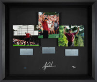 Circa 2003 Tiger Woods Signed Limited Edition UDA Masters Collage