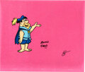 """Animation Art:Production Cel, The Flintstones """"Curtain Call at Bed..."""