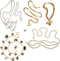 Luxury Accessories:Accessories, Chanel and Gucci Set of Six: Assorted Necklaces and Crysta...