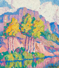 Paintings, Birger Sandzén (American, 1871-1954). In Logan Canyon, Utah, 1930. Oil on board. 13-7/8 x 12 inches (35.2 x 30.5 cm). Si...