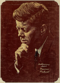 Norman Rockwell (American, 1894-1978) Portrait of John F. Kennedy, The Saturday Evening Post cover stud