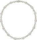 Estate Jewelry:Necklaces, Diamond, White Gold Necklace The necklace feat...