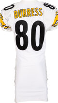 Football Collectibles:Uniforms, 2000 Plaxico Burress Game Worn & Signed Pittsburgh Steeler...