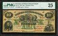 World Currency, Prince Edward Island Government of Prince Edward Island 10 Dollars 2.1.1872 PEI-18 Pick S156 Cancelled PMG Very Fine 25....
