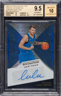 Basketball Cards:Singles (1980-Now), 2018-19 Panini Revolution Chinese New Year Luka Doncic Rookie Autograph #3 BGS Gem Mint 9.5, Auto 10 - With Two 10 Subgrades....