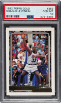 Basketball Cards:Singles (1980-Now), 1992 Topps Gold Shaquille O'Neal #362 PSA Gem Mint 10....