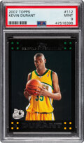 Basketball Cards:Singles (1980-Now), 2007 Topps Kevin Durant #112 PSA Mint 9....