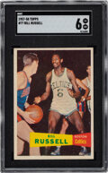 Basketball Cards:Singles (Pre-1970), 1957 Topps Bill Russell #77 SGC EX/NM 6. ...