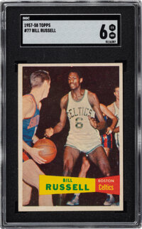 1957 Topps Bill Russell #77 SGC EX/NM 6