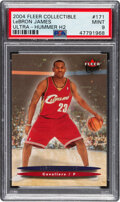 Basketball Cards:Singles (1980-Now), 2004 Fleer Ultra Hummer H2 Collectible LeBron James #171 PSA Mint 9. ...