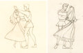 Animation Art:Production Drawing, Sleeping Beauty Dancing With the Prince Animation Drawings Group of 2 (Walt Disney, 1959).... (...