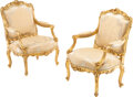 Furniture, A Pair of French Louis XV-Style Giltwood Fauteuils, circa 1900. 39-3/4 x 27-3/4 x 28 inches (101.0 x 70.5 x 71.1 cm). Pr... (Total: 2 Items)
