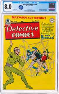 Detective Comics #140 (DC, 1948) CGC VF 8.0 White pages
