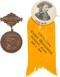 Military & Patriotic:Indian Wars, George A. Custer: Reunion and Monument Badges.. ... (Total: 2 Items)