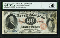 Fr. 129 $20 1878 Legal Tender PMG About Uncirculated 50