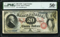 Large Size:Legal Tender Notes, Fr. 129 $20 1878 Legal Tender PMG About Uncirculated 50 Net.. ...