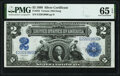 Large Size:Silver Certificates, Fr. 252 $2 1899 Silver Certificate PMG Gem Uncirculated 65 EPQ.. ...