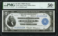 Fr. 749 $2 1918 Federal Reserve Bank Note PMG About Uncirculated 50 EPQ