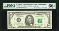 Small Size:Federal Reserve Notes, Descending Ladder Serial Number 76543210 Fr. 1980-C $5 1988A Federal Reserve Note. PMG Gem Uncirculated 66 EPQ.. ...