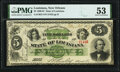 Obsoletes By State:Louisiana, New Orleans, LA-State of Louisiana $5 Jan. 28, 1867 PMG About Uncirculated 53.. ...