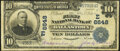 National Bank Notes:Pennsylvania, Dallastown, PA - $10 1902 Plain Back Fr. 624 The First National Bank Ch. # (E)6648 Very Good.. ...