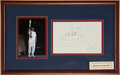 Boxing Collectibles:Autographs, 1997 Muhammad Ali Signed Ali vs. Frazier Original Drawing & 1996 Olympics Photograph....