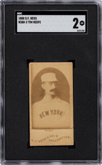 1888 N388-2 S.F. Hess Tim Keefe SGC Good 2 - The Only SGC & PSA Graded Example!