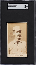 Baseball Cards:Singles (Pre-1930), 1887 N690 Kalamazoo Bats Roger Connor SGC VG 3 - The Finest of Only Two Graded Examples! ...