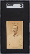Baseball Cards:Singles (Pre-1930), 1887 Four Base Hits Frank Hankinson SGC VG 3 - The Only SGC & PSA Graded Example! ...