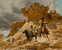 Frank McCarthy (American, 1924-2002) The Whine of a Ricochet, 1976 Oil on canvasboard 24 x 30 inches (61.0 x 76.2 cm)