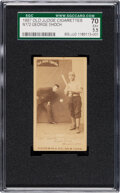 Baseball Cards:Singles (Pre-1930), 1887-90 N172 Old Judge George Shoch (#416-4) SGC 70 EX+ 5.5. ...
