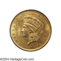 Gold Dollars: , 1856 G$1 Slanted 5 MS65 PCGS. The 1856 has the highest ...