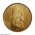 Early Quarter Eagles: , 1796 $2 1/2 No Stars AU58 PCGS. Bass-3002, R.5. There are ...