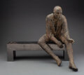 Sculpture, Hanneke Beaumont (Dutch, b. 1947). Man on Bench, 2002. Bronze. 17 inches (43.2 cm). Ed. 1/25. Signed HB, 1/25. ... (Total: 2 Items)