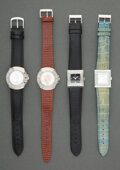 Jewelry, Four Lalique Fashion Watches Marks: LALIQUE,...