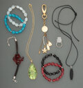 Jewelry, A Group of Lalique Glass Jewelry Articles. Marks: LALIQUE, FRANCE. 2-1/4 inches (5.7 cm) (largest, gre...