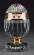 Clocks & Mechanical, An Hour Lavigne and Baccarat Gilt-Metal and Glass Egg Clock in Original Box, France, late 20th century . Marks: Hour Lavig...