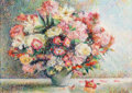 Works on Paper, Hughes Claude Pissarro (French, b. 1935). Le Bouquet de Marie-Louise. Pastel on paper. 14-5/8 x 20-1/8 inches (37.1 x 51...