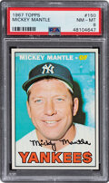 Baseball Cards:Singles (1960-1969), 1967 Topps Mickey Mantle #150 PSA NM-MT 8....