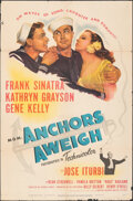 """Movie Posters:Musical, Anchors Aweigh (MGM, 1945). Folded, Fine. One Sheet (27"""" X 41""""). Musical.. ..."""