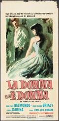 "Movie Posters:Foreign, A Woman is a Woman (Euro International, 1961). Folded, Fine/Very Fine. Italian Locandina (13.25"" X 27.75"") Sandro Symeoni Ar..."