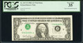 Inverted Third Printing Error Fr. 1917-F $1 1988A Web Federal Reserve Note. PCGS Very Fine 35