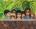 Paintings, Margaret Keane (American, 1927). Eyes Upon You, 1971. oil on canvas. 39 x 49 inches (99.1 x 124.5 cm). Signed and dated ...