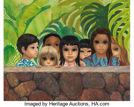Margaret Keane (American, 1927) Eyes Upon You, 1971 oil on canvas 39 x 49 inches (99.1 x 124.5 cm) Signed and dated ...