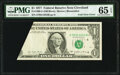 Error Notes:Foldovers, Foldover Error Fr. 1909-D $1 1977 Federal Reserve Note. PMG Gem Uncirculated 65 EPQ.. ...