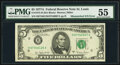 Mismatched Serial Number Error Fr. 1975-H $5 1977A Federal Reserve Note. PMG About Uncirculated 55