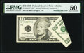 Foldover Error Fr. 2034-F* $10 1999 Federal Reserve Note. PMG About Uncirculated 50