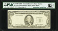 Insufficient Inking of Overprint Error Fr. 2171-A $100 1985 Federal Reserve Note. PMG Gem Uncirculated 65 EPQ